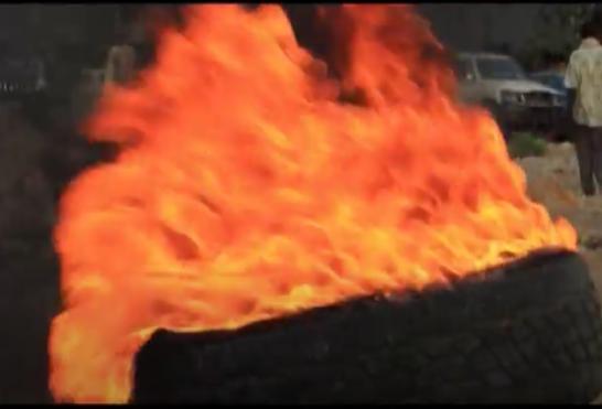 Brûlage Pneu